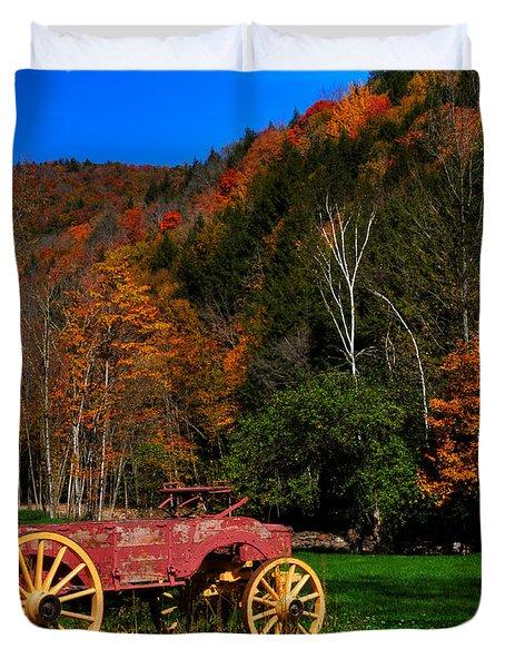Vermont Wagon Duvet Cover