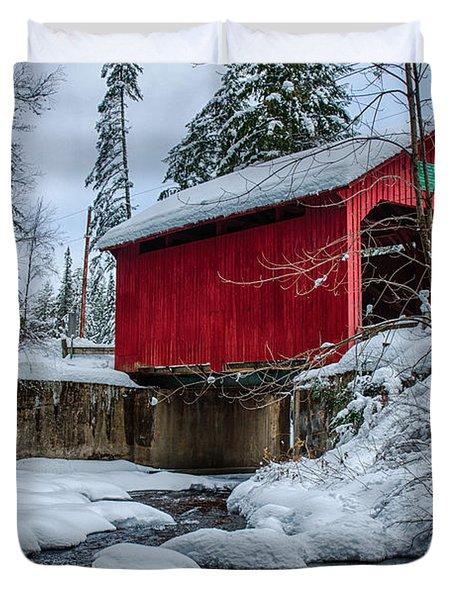 Vermonts Moseley Covered Bridge Duvet Cover
