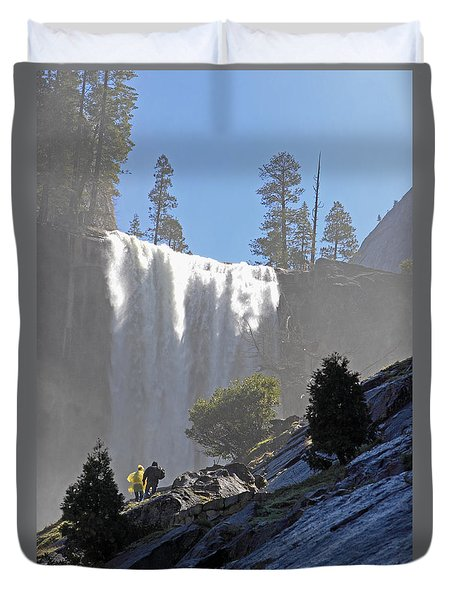 Vernal Falls Mist Trail Duvet Cover by Duncan Selby