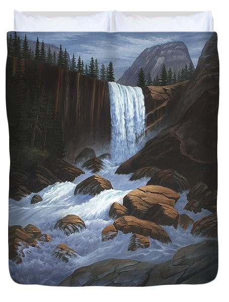 Vernal Falls Yosemite  Duvet Cover
