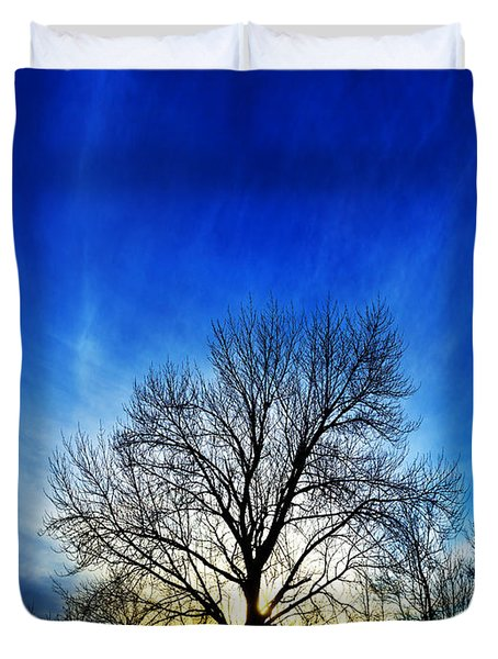 Duvet Cover featuring the photograph Vernal Sunset 1 by ABeautifulSky Photography