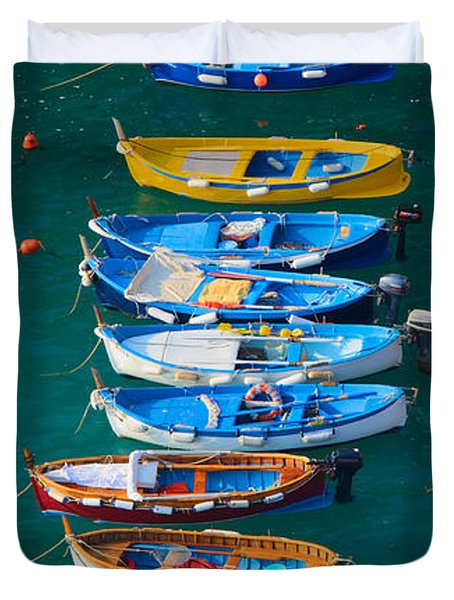Vernazza Armada Duvet Cover by Inge Johnsson