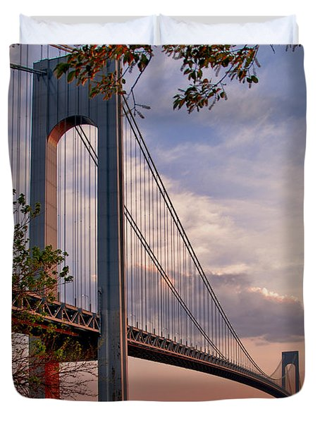 Verrazano Narrows Bridge Duvet Cover