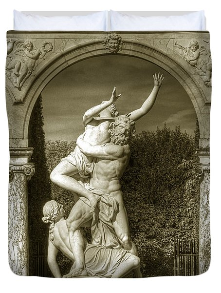 Versailles Colonnade And Sculpture Duvet Cover