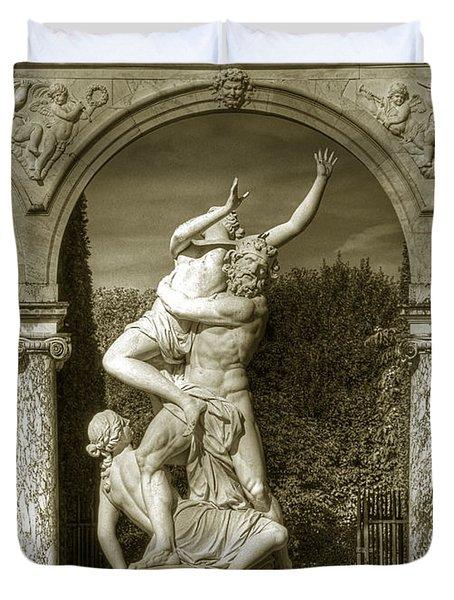 Versailles Colonnade And Sculpture Duvet Cover