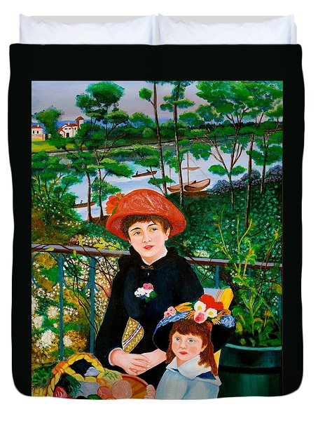 Version Of Renoir's Two Sisters On The Terrace Duvet Cover