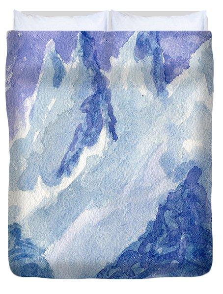Vertical Horizons Duvet Cover