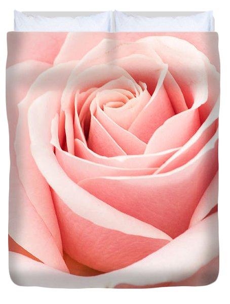 Vertical Pink Rose Duvet Cover