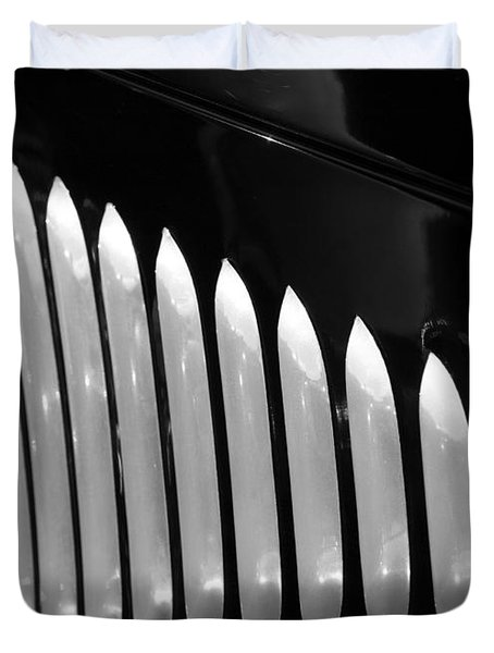 Duvet Cover featuring the photograph Vertical Vents by Rebecca Davis