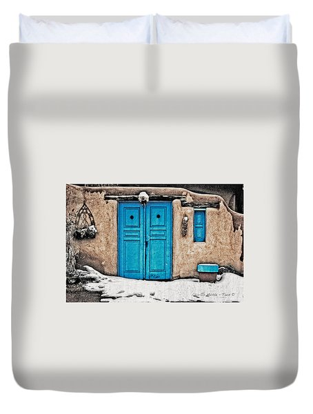 Very Blue Door Duvet Cover
