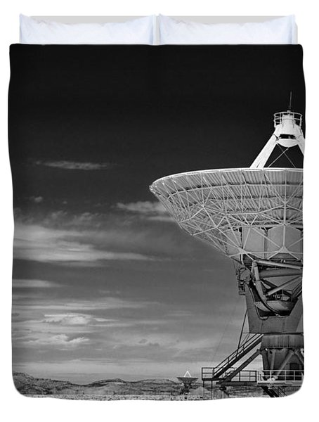 Very Large Array Radio Telescopes Duvet Cover by Christine Till
