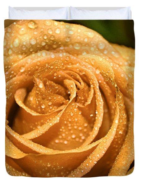 Very Wet Rose Duvet Cover by Debbie Portwood