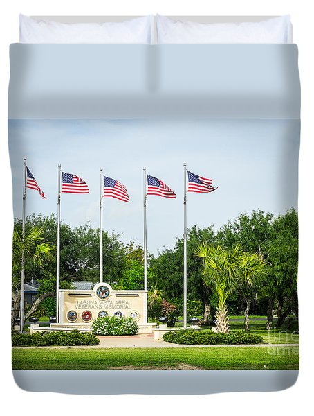 Veterans Memorial Laguna Vista Texas Duvet Cover