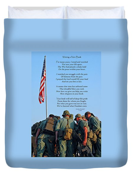 Veterans Remember Duvet Cover
