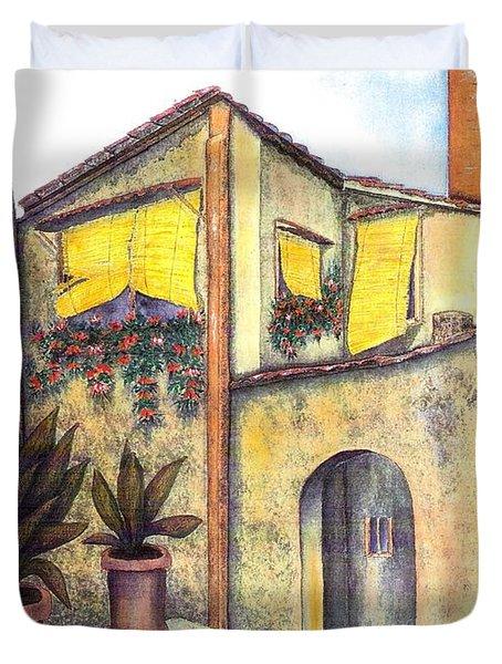 Via Roma Duvet Cover by Pamela Allegretto