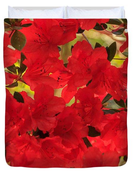 Vibrant Azalea Duvet Cover