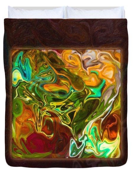 Vibrant Fall Colors An Abstract Painting Duvet Cover