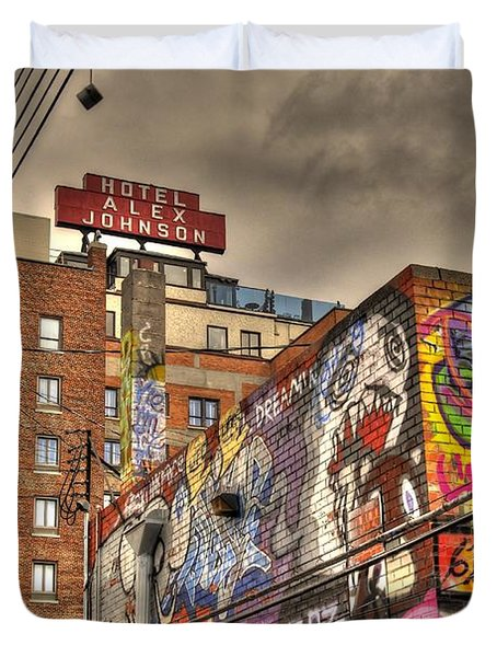 Duvet Cover featuring the photograph Vibrant Lodging by Anthony Wilkening