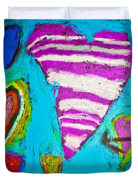 Duvet Cover featuring the photograph Vibrant Love by Sara Frank