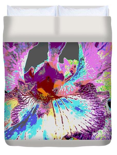 Vibrant Petals Duvet Cover by Sally Simon