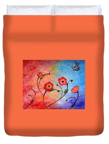 Vibrant Poppies Duvet Cover