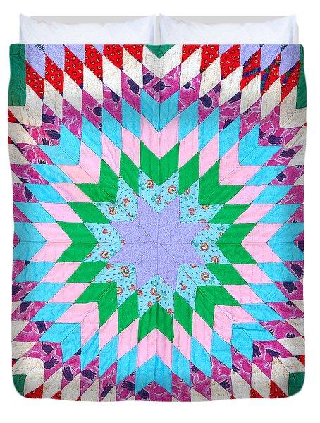 Vibrant Quilt Duvet Cover