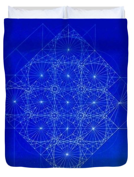 Vibrating Space Time Duvet Cover by Jason Padgett