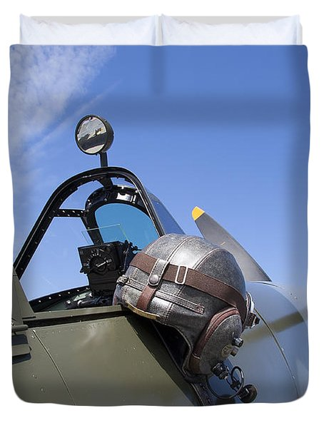 Vickers Spitfire Duvet Cover by Daniel Hagerman