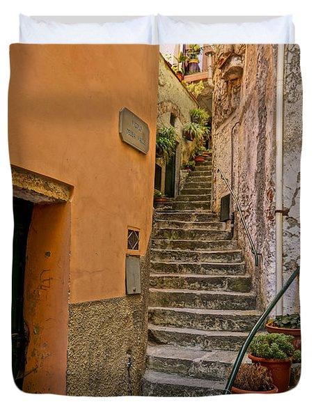 Vicolo Della Valle Riomaggiore Italy Dsc02537  Duvet Cover