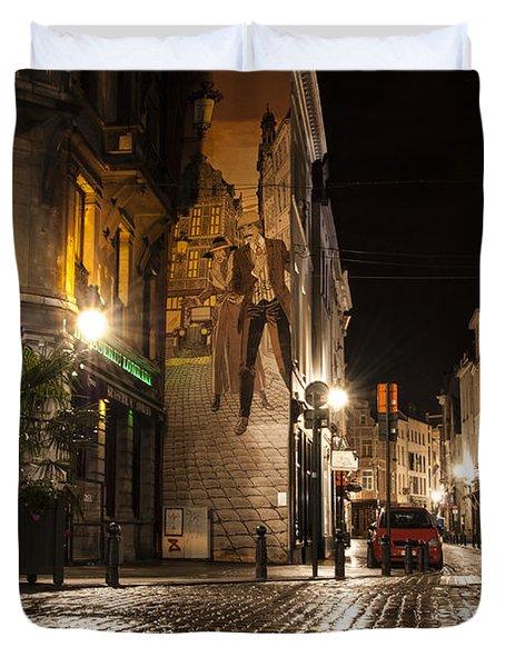 Victor Sackville In The Dark Duvet Cover by Juli Scalzi