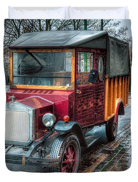 Victorian Car Replica  Duvet Cover by Adrian Evans