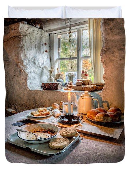 Victorian Cottage Breakfast Duvet Cover by Adrian Evans
