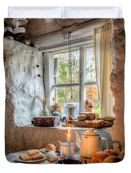 Victorian Cottage Breakfast V.2 Duvet Cover by Adrian Evans