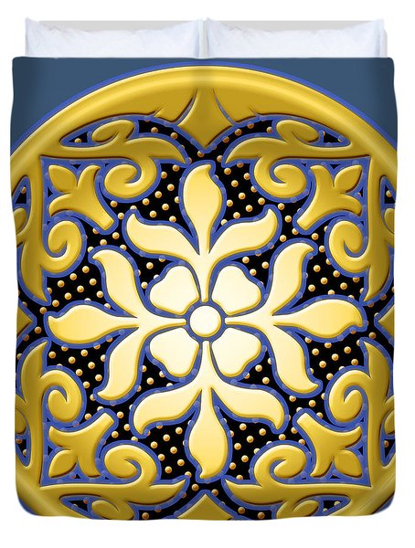 Victorian Door Knob Design Duvet Cover
