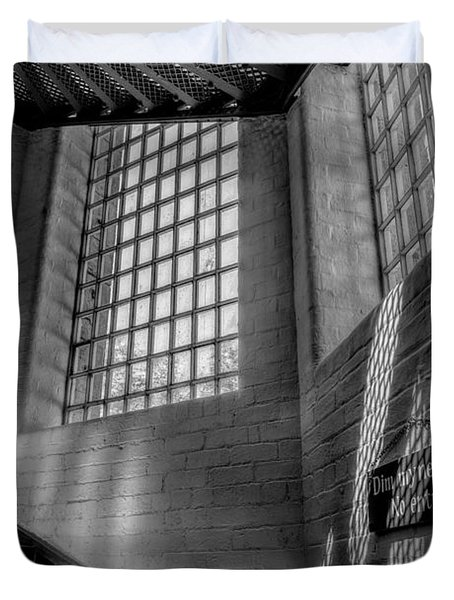 Victorian Jail Staircase V2 Duvet Cover by Adrian Evans
