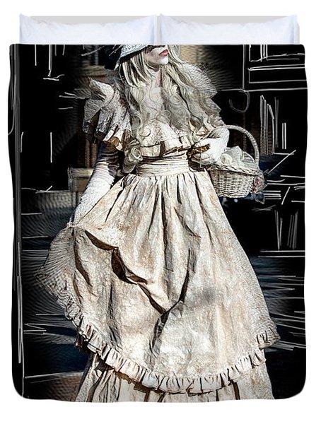 Victorian Lady Duvet Cover by John Haldane
