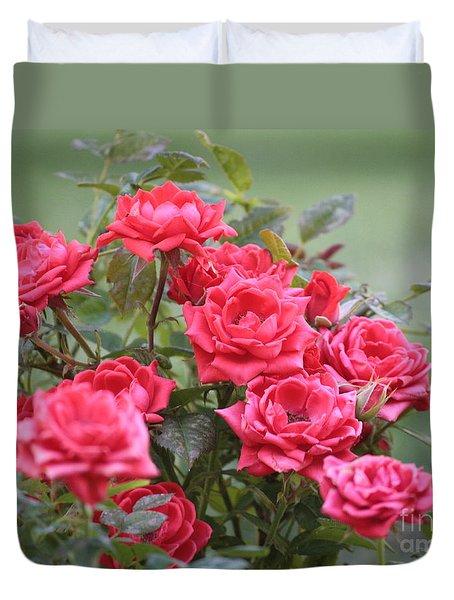 Victorian Rose Garden Duvet Cover by Carol Groenen