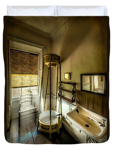 Victorian Shower Duvet Cover by Adrian Evans