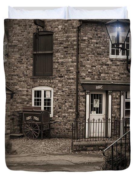 Victorian Stone House Duvet Cover by Amanda Elwell