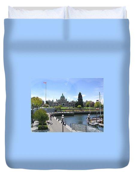 Victoria's Parliament Buildings Duvet Cover