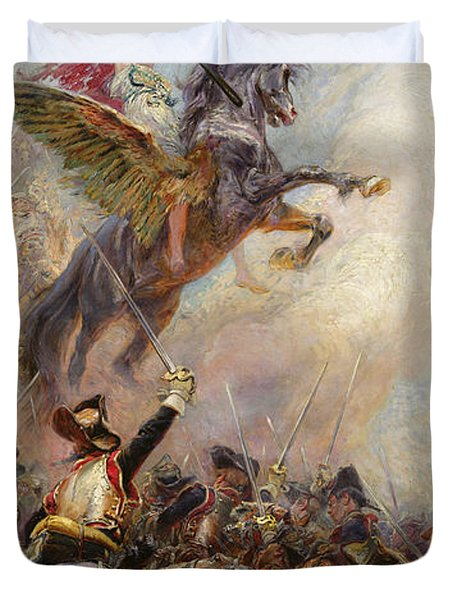 Victory Duvet Cover by Jean-Baptiste Edouard Detaille