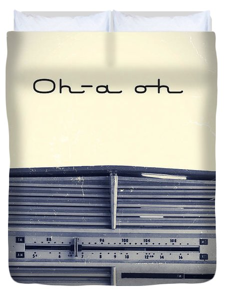 Video Killed The Radio Star Duvet Cover by Edward Fielding