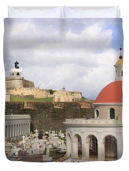 Viejo San Juan Duvet Cover by Daniel Sheldon