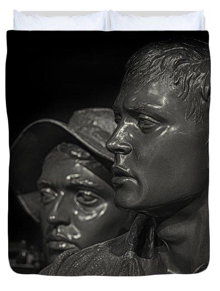 Vietnam Memorial No. 1 Duvet Cover by Jerry Fornarotto