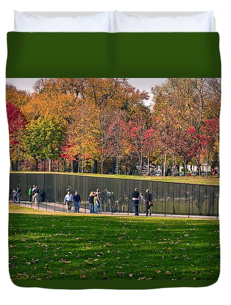 Vietnam Memorial Wall Duvet Cover