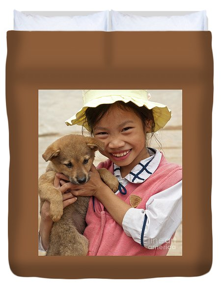 Vietnamese Girl 02 Duvet Cover by Rick Piper Photography