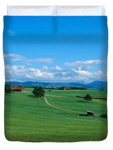 View Along Rural Hillside, Zurich Duvet Cover