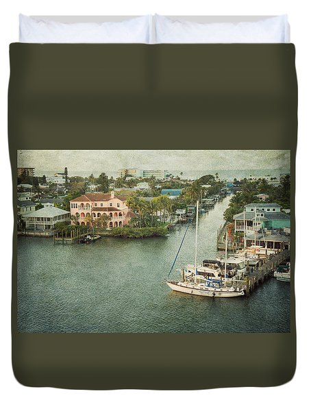 View At Fort Myers Beach - Florida Duvet Cover
