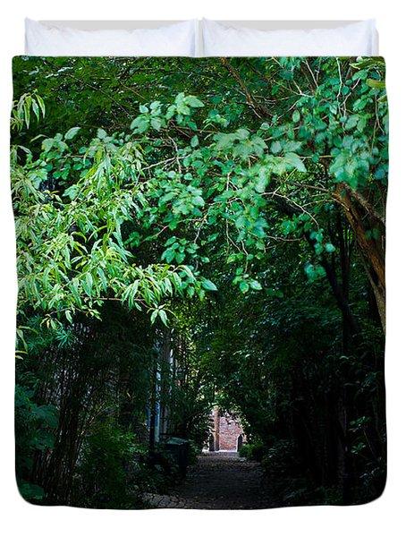 View Down Philadelphia Alley Duvet Cover
