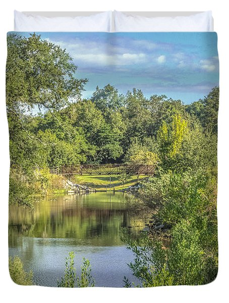 View Down The Creek Duvet Cover by Jane Luxton